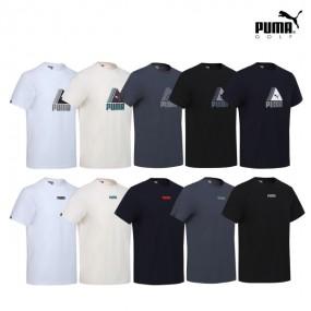 [PUMA] 푸마골프 남여공용 면100% 로고포인트 반팔티셔츠 10컬러중 택1 이미지