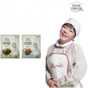 [김수미]그때그맛 묵은지볶음2팩+소라강된장2팩 (총4팩) 이미지