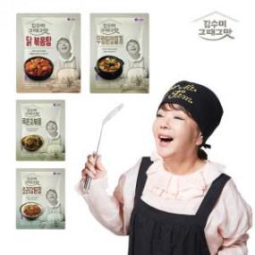 [김수미]그때그맛 4종세트 닭볶음탕+묵은지볶음+우렁된장+소라강된장(총4팩) 이미지