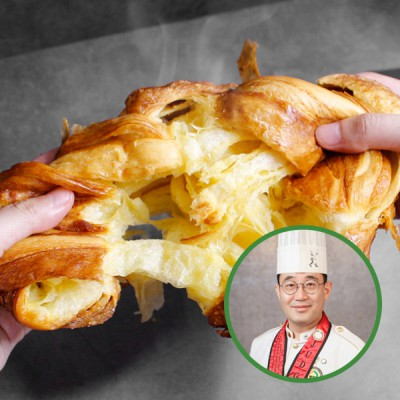 대전빵지순례 생활의달* 2회 방영 명장 한송철님의  한스브레드 108겹 크루아상 식빵(빅) 1kg/미니 230g 구성 선택 이미지