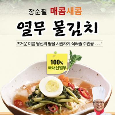 여름나기 국민음식 시원한 열무 물김치 500g(1~2인분) *5봉(개별포장)