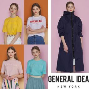 [제너럴 아이디어] 서울 패션위크 최범석 디자이너의 쿨썸머패키지 5종 (레인코트1종+티셔츠4종) 이미지