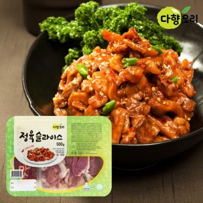 [다향오리] 정육슬라이스 500gx2팩 (고추장맛)