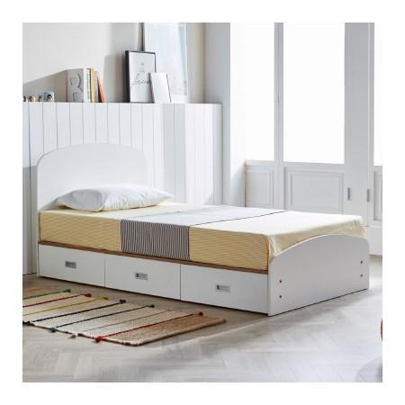 [마티노 가구] 아이린 수납 슈퍼싱글/퀸 침대 매트리스 포함 이미지