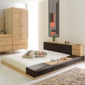 [마티노 가구]원목 사각 저상형 침대프레임 Q 이미지