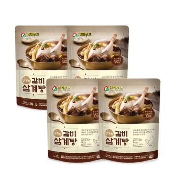 [복날맞이] 든든한 갈비삼계탕 1kg(상온) 4개입  총4kg/무료배송 이미지