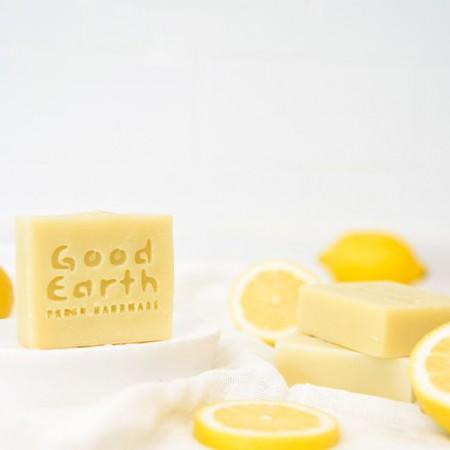 [굿어스 ] 천연비누 - 레몬향 가득 샤워바 100g 이미지