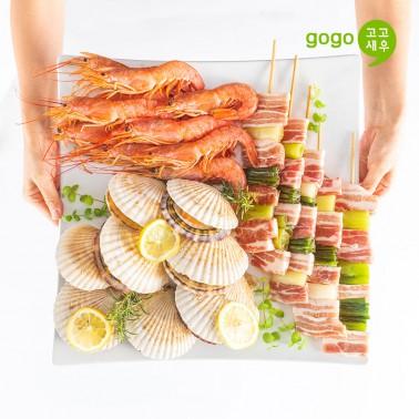 고고새우 캠핑 음식 요리세트 30cm꼬치구이 이미지