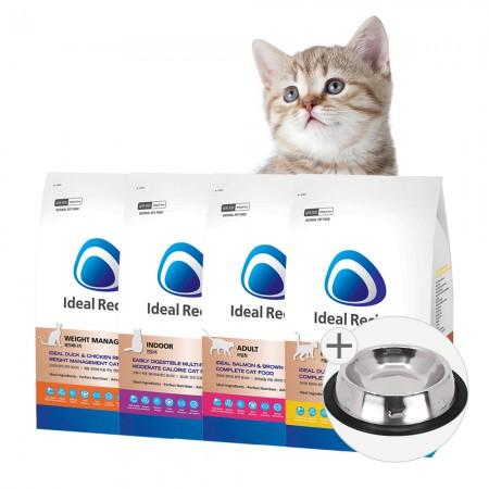 아이디얼레시피 고양이사료 1kg 인도어 키튼 다이어트+사료샘플 증정/2개 이상 구매시 사료샘플+식기증정