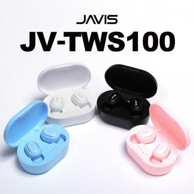 [블루투스 이어폰]자비스 JV-TWS100 ♥최신 블루투스 5.0 및 듀얼페어링, 트렌디한 컬러, 한국어 음성 지원♥ 이미지