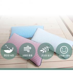 [정오의 특가]★편백나무로 꿀잠★편백 하나로 베개 실속형/일체형 2종 택1 이미지