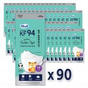 [KF-94-소형][국내산][의약외품][90매/장당 832원]잘풀리는집 황사방역용 마스크(4중필터) 이미지