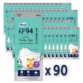 [KF-94(의약외품)][소형][국내산][90매]잘풀리는집 황사방역용 마스크KF94(4중필터) 이미지