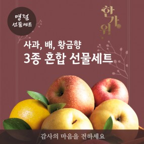 [추석PICK][과일친구] 20년한가위 명품 사과,배,황금향 혼합세트 이미지