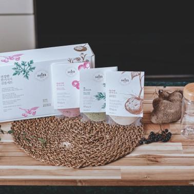 [지팔자]★건강선물★ <산들녘> 건강한 한끼식사 선물세트, 건강선식, 천연생식 (둥근마,아로니아,쑥 3가지) 이미지