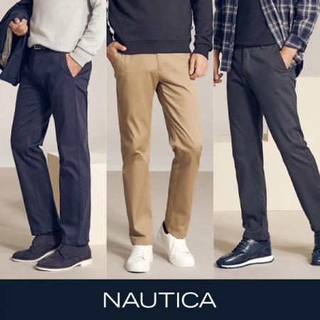 [아자픽] 20FW신상! NAUTICA 노티카 에센셜 코튼 트윌팬츠 3종 세트 (남성용) 이미지