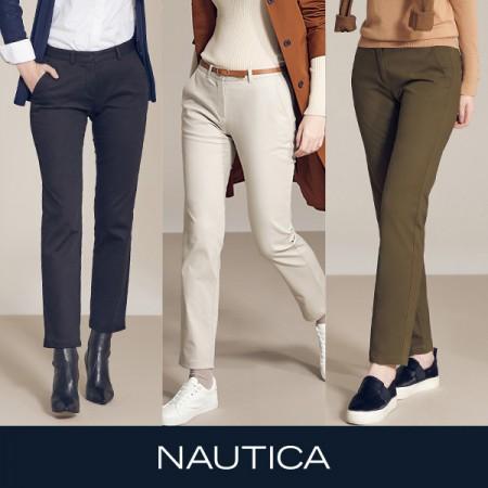 [아자픽] 20FW신상! NAUTICA 노티카 에센셜 코튼 트윌팬츠 3종 세트 (여성용) 이미지