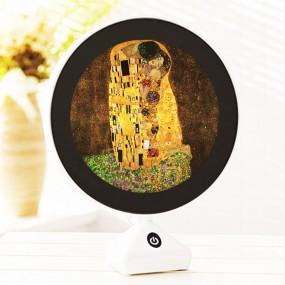 LED거울  고급형 원터치 스탠드 무드등 겸용 세계명화 구스타프 클림트의 키스 이미지