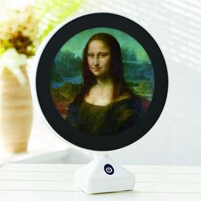 LED거울  고급형 원터치 스탠드 무드등 겸용 세계명화 레오나르드 다빈치-모나리자 이미지