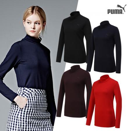 ★윈터 HOT SALE★ [PUMA] 푸마골프 여성 기능성 모크넥 티셔츠 4컬러택일