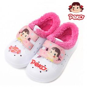 페코 원벨크로 방한 실내화_핑크 / 아동 겨울 초등 유아 이미지