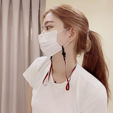 [마스크 스트랩] 마스크 이어끈 분실방지 목걸이 패셔니스타 칼러캡 이미지