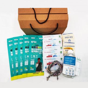 [세트] 의약외품 국내산 KF94 MB필터 덴탈 마스크  손소독제 코로나 방역 키트 기프트 박스 이미지