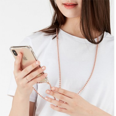 [스마트폰ACC] 젠블리 항균동 볼체인 폰스트랩 패션케이스 (김혜수 핸드폰 목걸이) 이미지