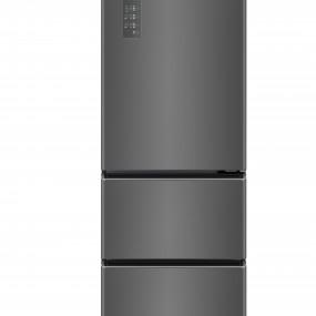 [위니아딤채] 2021년형 3룸 스탠드 김치냉장고 다크실버 330L (기본설치포함) / WDT33EPRZDS 이미지