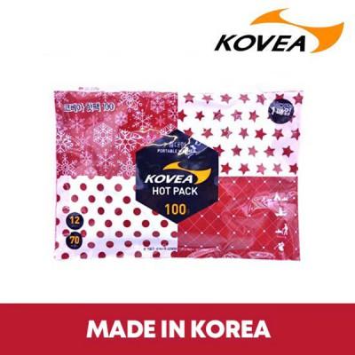 [코베아] 핫팩 100g 휴대용 대용량 손난로 국내생산