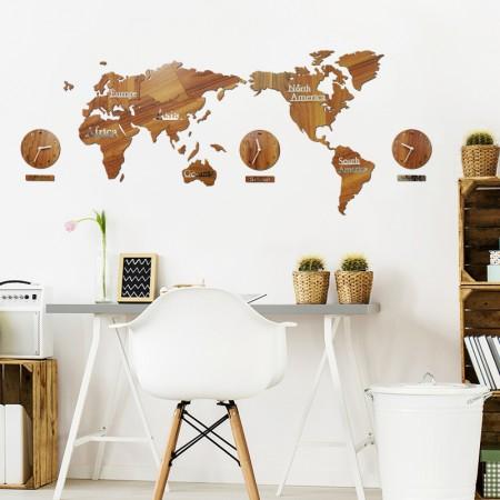 인테리어 벽장식 환경꾸미기 원목 퍼즐 장식 꿈꾸는 지도시계 이미지