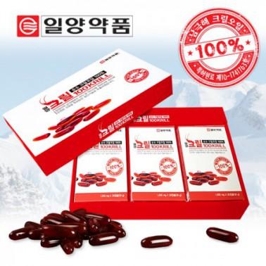 [지팔자][일양약품] 홈쇼핑&약국 동시판매 일양 크릴오일100 1000mg 3개월 총 90캡슐 (선물포장 포함) 이미지