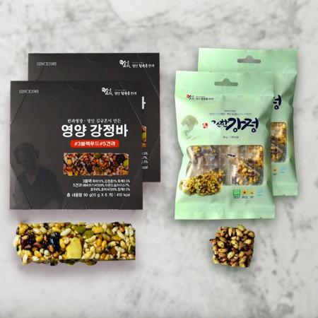 [신궁전통한과] 김규흔명인 영양강정바6개 + 고소한강정 30g (무료배송)