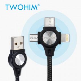투힘 일석삼조 3in1 USB 멀티 충전 케이블 이미지