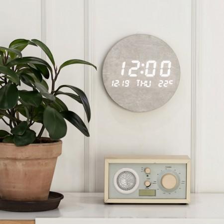 플라이토 루나 온습도 인테리어 LED 벽시계 이미지