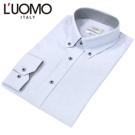 [LUOMO] 워모 슬림핏 셔츠 옥스포드 버튼다운 그레이