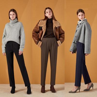 [인스타일] 겨울  보아퍼 웜슬림 여성 팬츠 3종 세트