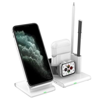 아이폰 무선충전 에어팟 애플 워치 3in1 연필꽂이 멀티충전기
