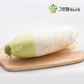 [그린팜] 한국인이 가장 좋아하는 신선하고 시원한 친환경 재배 무 (3kg / 5kg / 10kg) 이미지