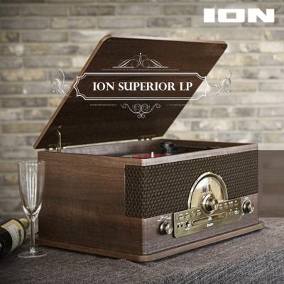 ION Superior LP 턴테이블 올인원 스피커 (LP/블루투스/카세트테이프/AUX)