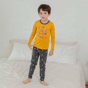 [뎀뎀] 어린이 면 모달 내복 내의 세트 이미지