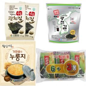 [광천김] 구구세트 구운파래김+파래김+김자반+누룽지 이미지