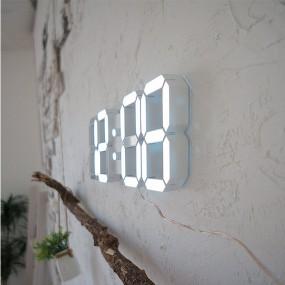 무소음 벽걸이 LED 인테리어 알람 전자 디지털 벽시계 38cm 이미지