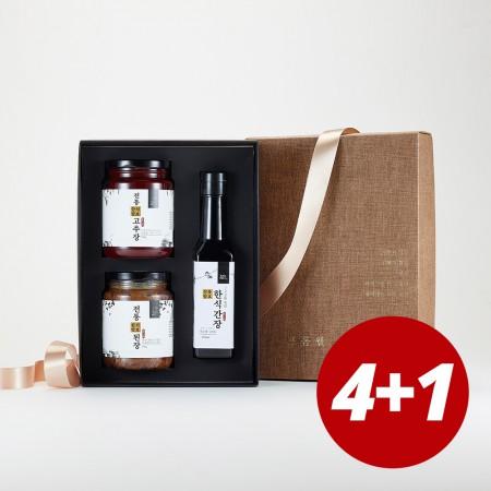 [설이왔소] 4+1 김인순 전통장류 3종 선물세트(된장450g+고추장450g+한식간장250ml) 이미지