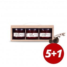 [추석PICK] 5+1 김인순 핸디3종 볶음고추장 선물세트(한우/잔멸치/표고버섯 각120g) 이미지