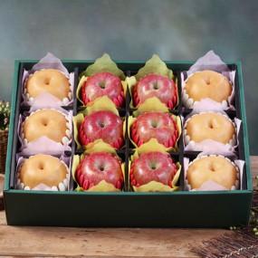 [설이왔소] [햇살아름]당도선별! 진품 사과 배 혼합선물세트 7.5kg이상 (사과6개,배6개/특품) 이미지