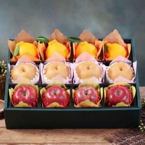 [설이왔소] 햇살아름 당도선별! 진품 사과 배 한라봉 혼합선물세트 7kg이상 (사과4개,배4개,한라봉4개/특품) 이미지