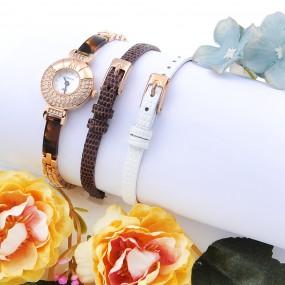 [OBERON]여성용 세라믹 시계 OB-305 RGBK(가죽시계밴드 2종 추가증정) 이미지