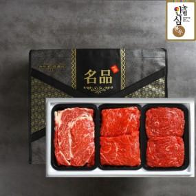 [설이왔소] 농협안심한우 명품혼합1호세트 (1.2kg/등심,불고기,국거리 각 0.4kg) 이미지