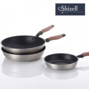 [쉬젤] Shizell 스테인레스 프라이팬 3종세트 (20.28cm프라이팬+28cm궁중팬) 이미지